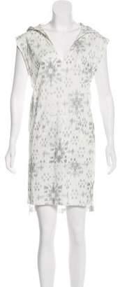 Baja East Hooded Knee-Length Dress