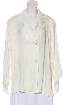 Smythe Oversize Double-Breasted Top w/ Tags