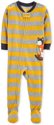 Carter's Toddler Boys Striped Husky Footed Pajamas