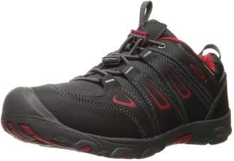 Keen Kid's Oakridge Low WP Hiking Shoes, Black/Tango Red