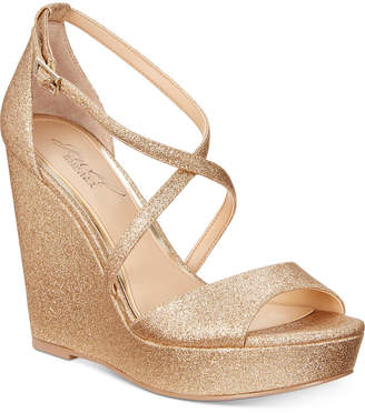 Badgley Mischka Averie Evening Wedge Sandals