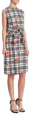 Lela Rose Flower Bow Dress