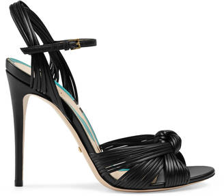 Leather knot sandal $795 thestylecure.com