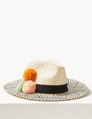 b7930829 M&S CollectionMarks and Spencer Pom-Pom Fedora Hat