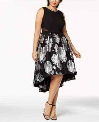 Xscape Evenings Plus Size Brocade High-Low Dress