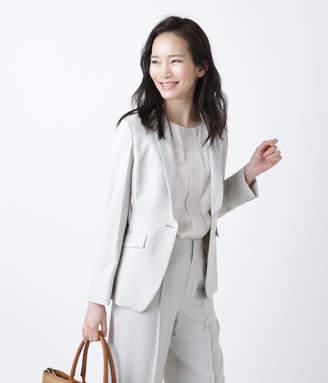NEWYORKER women's 【手洗い可能】シャンブレーストレッチ デザインテーラードジャケット