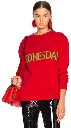 Alberta Ferretti Wednesday Crewneck Sweater