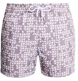 Frescobol Carioca - Sports Freijo Print Swim Shorts - Mens - Brown