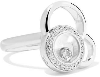Chopard Happy Dreams 18-karat White Gold Diamond Ring - 54