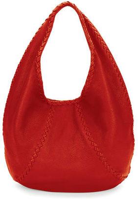 Bottega Veneta Cervo Large Leather Hobo Bag $1,780 thestylecure.com
