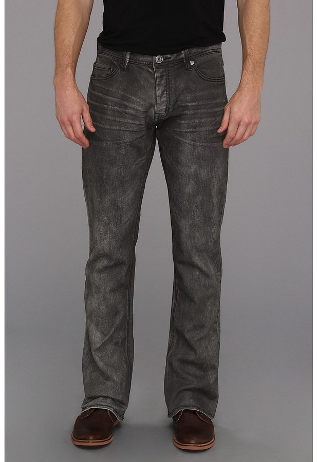 Calvin Klein Jeans The Kick Bootcut Jeans in Soot (Soot) - Apparel
