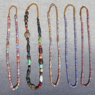 Aura Que Fairtrade Bead Necklaces In Pattern Colour Finishes