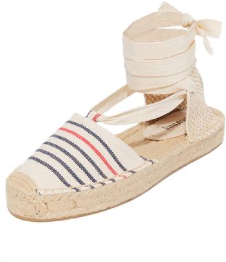 Soludos Striped Gladiator Sandals $65 thestylecure.com
