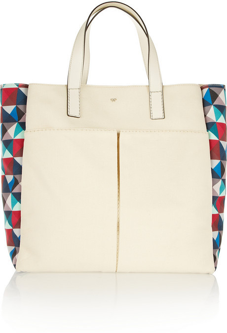 Anya Hindmarch Nevis leather-trimmed canvas tote
