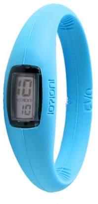 Ioion IO?ION! IO? DEBATE! EVO Unisex-Watch Aqua Blue - Queen II Silicone Digital E-QMR12-II