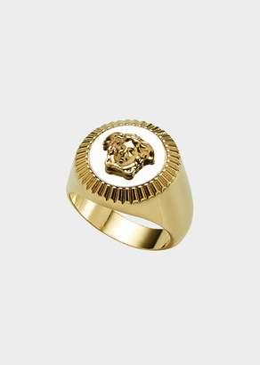Versace Guilloche Medusa Ring