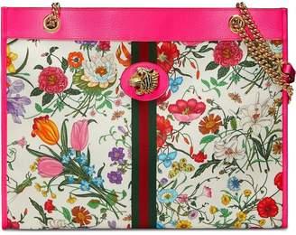 Gucci multicoloured large floral tote
