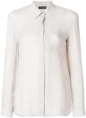 Emporio Armani tonal micro check-print shirt