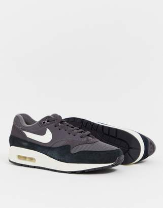 Air max 1 leather trainers , black, Nike | La Redoute