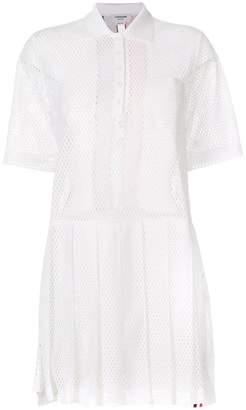 Thom Browne perforated tri-stripe dress
