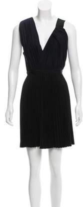 Proenza Schouler Virgin Wool Pleated Dress Black Virgin Wool Pleated Dress