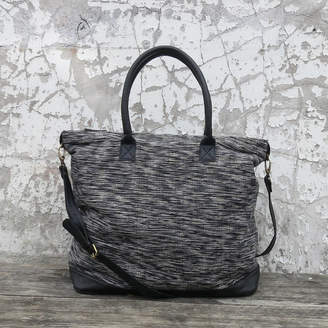 eff8db0f4873 at Notonthehighstreet.com · Aura Que Fairtrade Handwoven Weekender Bag With  Leather Trim
