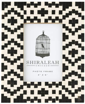 Shiraleah Loft Geometric Inlay Picture Frame