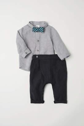 H&M Shirt and Pants - Light gray - Kids