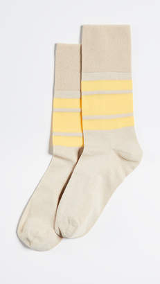 Ganni Wide Stripe Socks