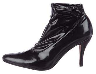 Donald J Pliner Patent Leather Ankle Boots
