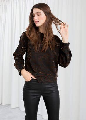 And other stories Animal Print Pullover