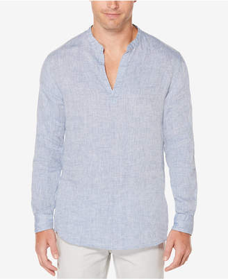 Perry Ellis Men's Chambray Popover Shirt $79.50 thestylecure.com