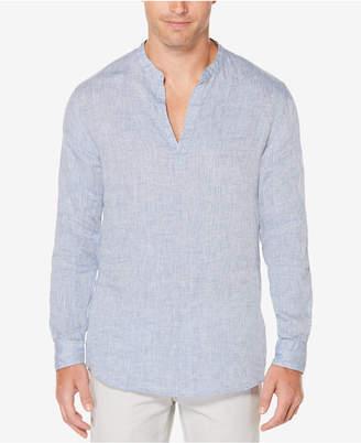 Perry Ellis Men's Chambray Popover Shirt