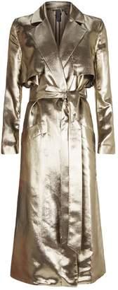 Siran Lamé Trench Coat