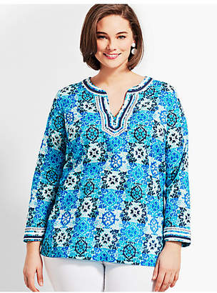 Talbots Womans Exclusive Medallion Tiles Tunic