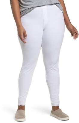 Hue Selvage Edge Ripped Denim Leggings (Plus Size)