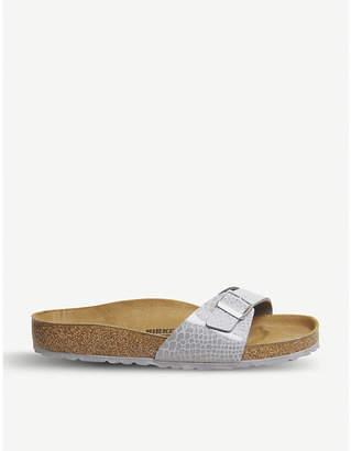Birkenstock Madrid 1 metallic-leather sandals
