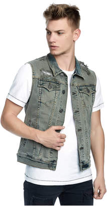 True Religion DYLAN MENS DISTRESSED DYLAN VEST