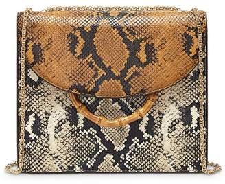 Loeffler Randall Marla Square Snake-Print Convertible Shoulder Bag