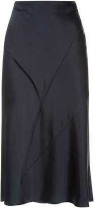 Vince Silk Raw Edge Skirt