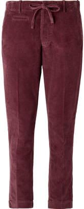 MAN 1924 - Burgundy Slim-Fit Cotton-Corduroy Suit Trousers