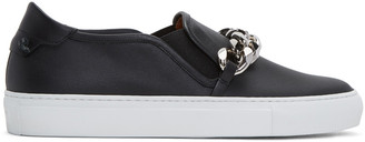 Givenchy Black Chain Skate Slip-On Sneakers $850 thestylecure.com