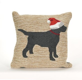 The Holiday Aisle Christmas Dog Outdoor Throw Pillow The Holiday Aisle
