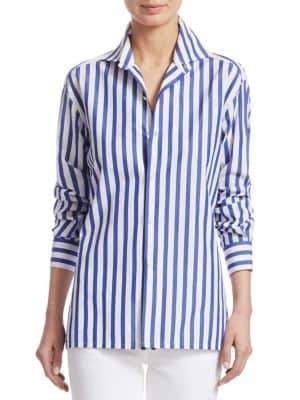 Ralph Lauren Collection Iconic Capri Striped Cotton Shirt