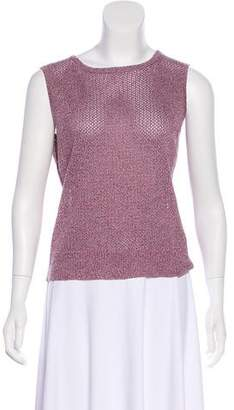 St. John Sport Sleeveless Open Knit Top