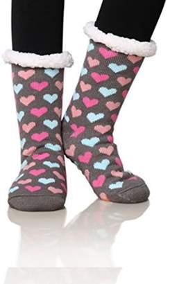 ed0009bcccf9 at Walmart · Generic Women s Winter Fleece Knit Non Slip Warm Fuzzy Cozy  Slipper Socks