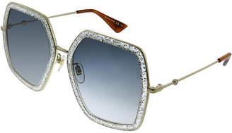 Gucci Women's Oversized Square 56Mm Sunglasses