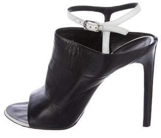 Balenciaga Bicolor Cutout Sandals