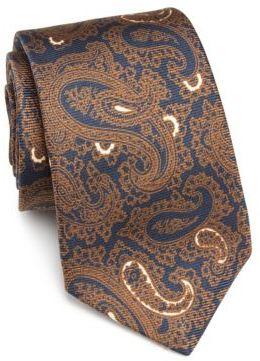 Kiton Paisley Printed Silk Tie $295 thestylecure.com