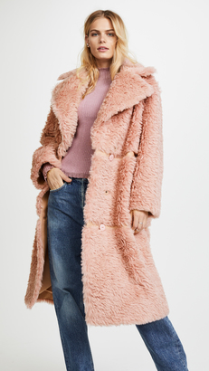 Vika Gazinskaya Oversized Faux Fur Coat